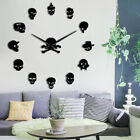 Various Skull Heads Decorative DIY Sticker Large Wall Clock Dead Skeleton Clock