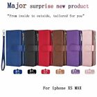 For Iphone 7 8 X/xs Xr Xs Max Magnet Leather Zipper Cards Slot Wallet Case Cover
