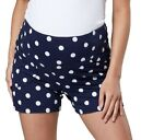 ZETA VILLE Women's Maternity Overbump Shorts Jersey Pants with Pockets 1027