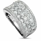 14K White Gold Diamond Pave Wide Ring