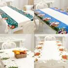 Christmas Tablecloth Table Runners Doily Placemats Flower Print Table Decor We