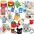 For Apple Airpods 3D Cute Silicone Cartoon Charging Case Earbuds Strap Cover NEW $9.34  on eBay