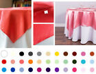 1/10 pack 72x72 in. Square Satin Overlay Seamless Wedding Party Dinner Catering