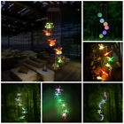 Color-Changing LED Spiral Spinner Solar Powered Wind Chime Lights Garden Decor