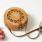 Women Straw Bag Summer Beach Rattan Shoulder Bags Wicker Weave Handbag Crossbody
