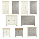 Lancaster Grey Cream Bedroom Furniture Sets Wardrobe Chests Bedside