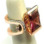 FixedPricefashion ladies rose gold faux ruby diamond ring bridal wedding ring jewelry we