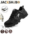 Mens Work Boots Safety Shoes Steel Toe Cap Waterproof Sneakers Hiking Camping