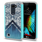 For LG K10 Premier L62VL Hybrid Bumper Shockproof Protector Hard TPU Case Cover