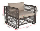 Patio Furniture Sectional Sofa Set Outdoor Rattan Pe Wicker Large Cushioned Seat
