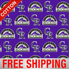"""Colorado Rockies MLB Cotton Fabric - 58"""" Wide - Style# 6639 - Free Shipping"""