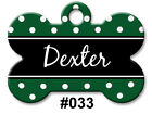 Personalized Pet Name ID Tags for Dog, Custom Double Sided Cool BONE Shape LOOK! <br/> ** Great SELECTIONS ~ Choice of FONTS ~ Made In USA **