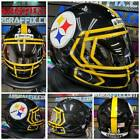 Pittsburgh Steelers Custom Painted Airbrushed Motorcycle Helmet