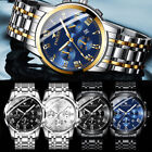 Stainless Steel Luxury Men Fashion Military Army Analog Sport Quartz Wrist Watch image