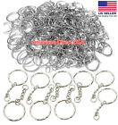 Kyпить 25 PCS Keyring Blanks Silver Tone Key Chains Findings Split Rings 4 Link на еВаy.соm