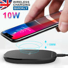 10W Fast Qi Wireless Charger Charging Mat Pad For iPhone XS R MAX X 8 Samsung 9