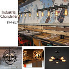 Retro Industrial Style Edison Celling Light Iron Metal Shade Pendant Chandelier