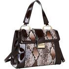 Dasein Patent Faux Leather Fold-Over Lock Tote 3 Colors