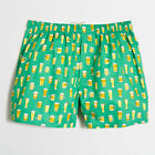 J Crew Men's 100% Cotton Woven Boxers Underwear Prints Checks Size S,L NWT