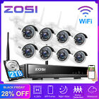 ZOSI 8CH 1080P Wireless CCTV Security Camera System Home IP WIFI NVR Outdoor