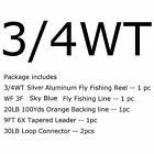 Fly Fishing Reel Fly Line Combo 1/2 3/4 5/6 7/8WT Fly Reel Fly Line Fly Kit