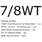 Fly Fishing Reel Fly Line Combo  1/2 3/4 5/6 7/8WT CNC Machined Fly Reel Fly Kit