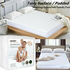 Mattress Protector Waterproof Soft Hypoallergenic Fitted Pad Bed Cover US image