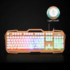 Gaming Keyboard MouseColor Backlit PC Mechanical Backlight Wired LED Illuminated