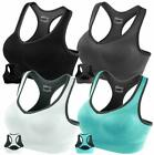Fittin Racerback Sports Bras - Padded Seamless High Impact Support For Yoga Gym