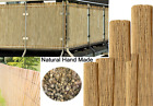 AQS Natural Thick Reed Fence Privacy Border Panel Sun Windbreak Screening Roll