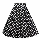 Girstunm Women'S Pleated Vintage Skirt Floral Print A-Line Midi Skirts With Pock