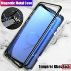 Samsung Galaxy S8 S9 S10 S10 e Note 8 9 10  Magnetic Tempered Glass Case Cover