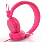 Kids Over Wired Ear Headphones Headband Girl Earphones Pink for iPad Tablet SPM