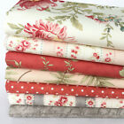 MODA Poetry pink & silver 7 piece fabric bundles 100% cotton for sewing & craft