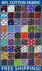 "NFL Sport All Teams Collection Cotton Fabric - 58-60"" Wide - Free Shipping!! $7.95 USD on eBay"