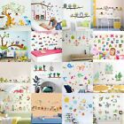 Cartoon Animals Kids Children Wall Stickers Bedroom Art Decal For Play Study~gq