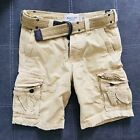 Abercrombie and Fitch by Holiister Mens Cargo Shorts with Belt Pockets Vintage