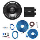 SKAR AUDIO VD-10 D2 500W RMS SUBWOOFER PACKAGE W/ RP-350.1D AMP AND 8GA WIRE KIT
