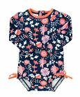 Rufflebutts Baby/Toddler Girls Upf 50+ Sun Protection Long Sleeve One Piece Swim