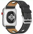 Genuine Leather Wrist Strap Band 38mm 44mm for Aple Watch iWatch Series 4/3/2/1