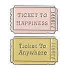 TICKET TO HAPPINESS Cartoon Enamel Alloy Badge Movie Ticket Brooch Pins Jewelry image