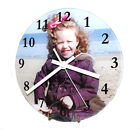 Personalised Glass Photo Clock with mechanism