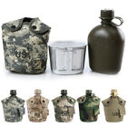 JQ  Portable 1L Army Military Water Camping Hiking Outdoor Canteen Cup AU Stoc