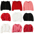 NWT Carters Infant Girls Cardigan Sweaters Red Black White Pink NB-24 Mo.