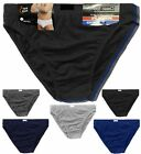 6 Pack Mens Classic Sports Ribbed Slips Briefs Pants Soft Cotton Underwear S-5XL