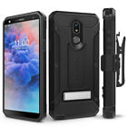 LG Stylo 5 Case with Glass Screen Protector, Rugged Holster & Kickstand - Evocel