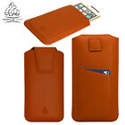 Genuine Leather Case Pull Up Pouch Hand Crafted with Card Slot for Mobile Phone