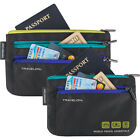 Travelon World Travel Essentials Set of 2 Currency and Travel Wallet NEW