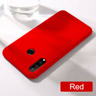 For Huawei Honor 10 20 Lite 8A 8S 8X Liquid Silicone Gel Simple Color Cover Case