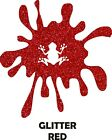 "12"" Red Glitter Heat Transfer Vinyl for Shirts - Iron On HTV Textured Flake"
